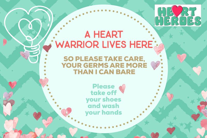 A Heart Warrior card £5