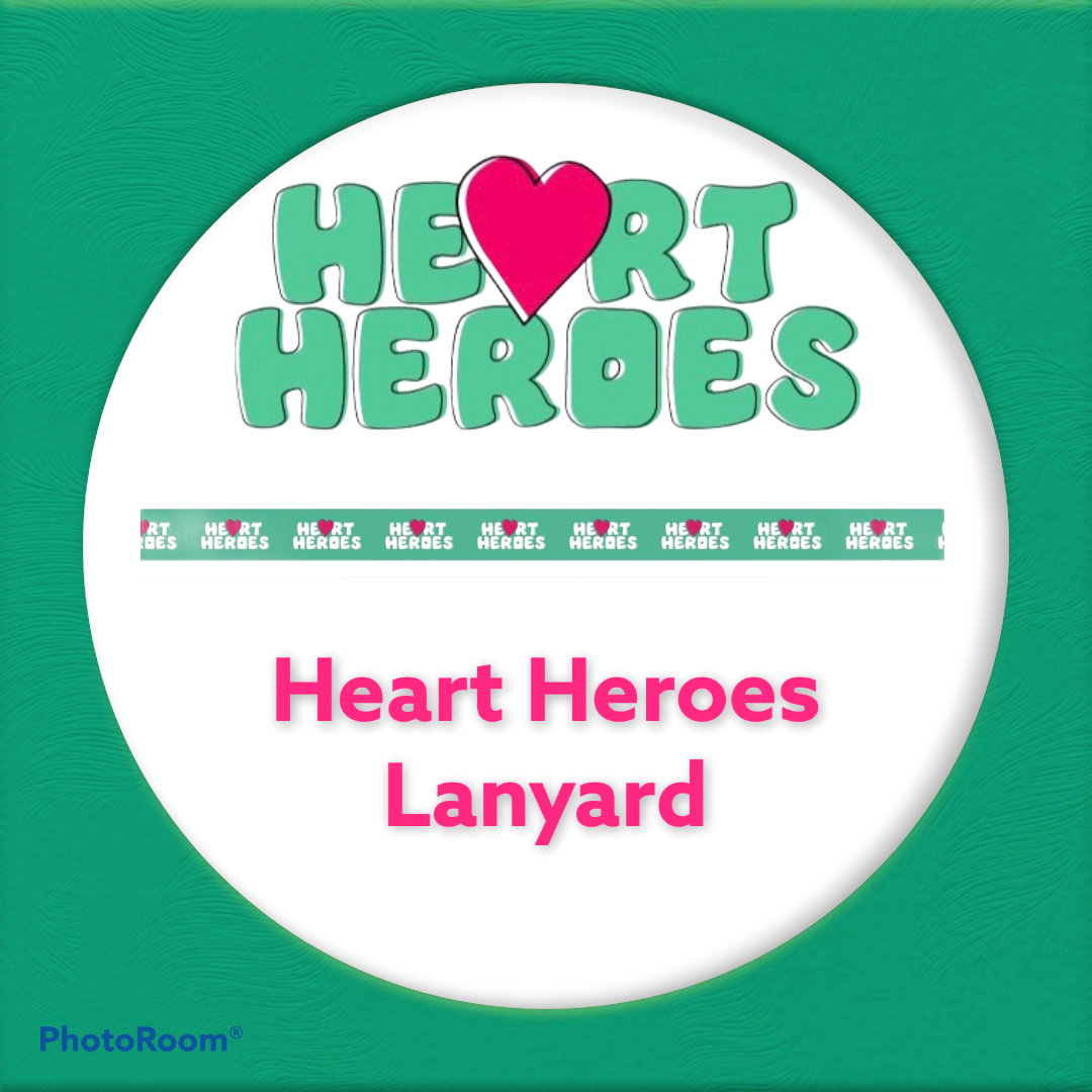 Heart Heroes Lanyard with metal clip
